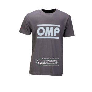 T-Shirt OMP Racing Grigia
