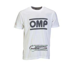 T-Shirt OMP Racing Bianca