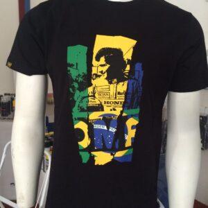 T-Shirt Nera Ayrton Senna