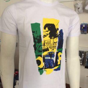 T-Shirt Bianca Ayrton Senna